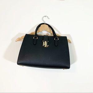 Ralph Lauren Carrington Brigitte Black Satchel Bag